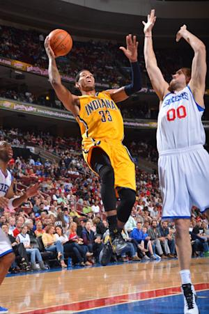 Pacers beat 76ers 102-97 for 6th straight victory