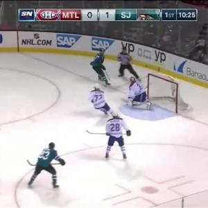 Carey Price Save on Logan Couture (09:37/1st)