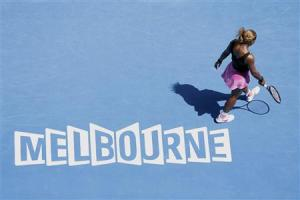 Serena Williams of the U.S. walks on the court during her women's singles match against Ana Ivanovic of Serbia at the Australian Open 2014 tennis tournament in Melbourne