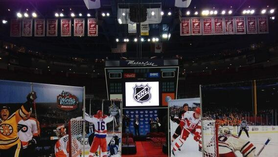 Waiting for the Winter Classic announcement at Joe Louis Arena, Detroit (Photo by Nick Cotsonika @cotsonika)