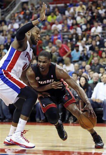 Bynum, Pistons top short-handed Heat 109-99