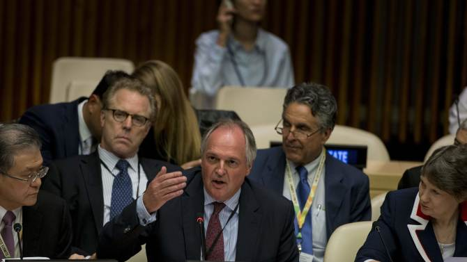 Unilever CEO Polman addresses the Climate Summit at the U.N. headquarters in New York