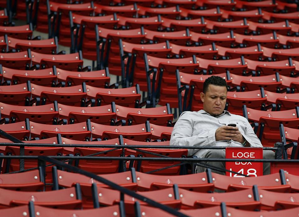 Tigers star Cabrera relaxed before big game