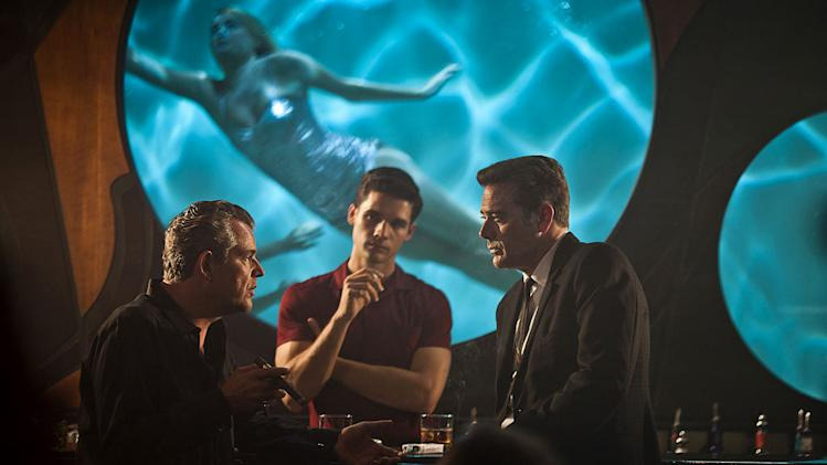 "Danny Huston as Ben Diamond, Steven Strait as Stevie Evans , and Jeffrey Dean Morgan as Ike Evans in ""Magic City."""