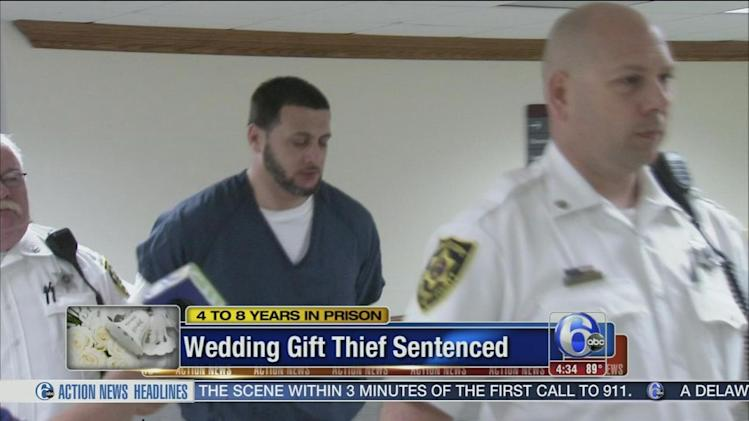 Wedding crasher thief sentenced 4 to 8 years