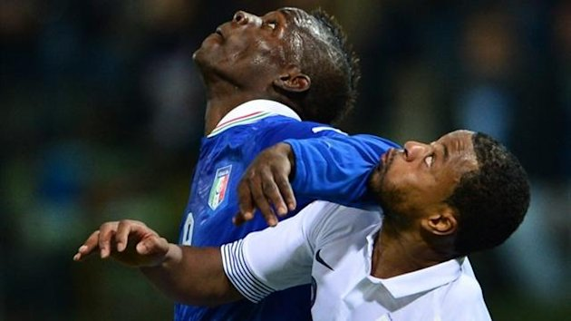 2012 Italy-France, Mario Balotelli and Patrice Evra