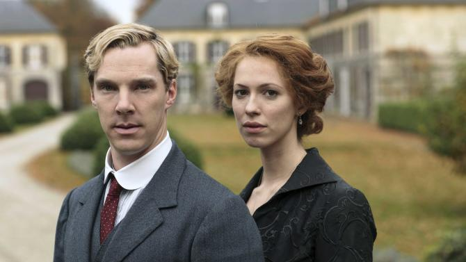 """This publicity image released by HBO shows Benedict Cumberbatch, left and Rebecca Hall are shown in the five-part miniseries """"Parade's End,"""" debuting Feb. 26 on HBO. (AP Photo/HBO, Nick Briggs)"""