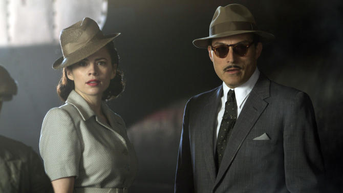 "This image released by Sundance Channel shows Hayley Atwell, left, and Rufus Sewell in the Sundance Channel original miniseries ""Restless.""  The two-part miniseries begins Friday at 9 p.m. EST on Sundance. (AP Photo/Sundance Channel, Ilze Kitshoff)"