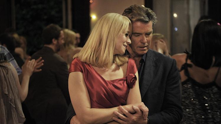 "This publicity photo released by courtesy Sony Pictures Classics shows Trine Dyrholm as Ida, left, and Pierce Brosnan as Philip, in the film, ""Love Is All You Need."" (AP Photo/Sony Pictures Classics, Doane Gregory)"