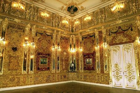 File photo of Russia's legendary Amber Room