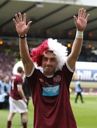 Rudi Skacel won the Scottish Cup twice with Hearts