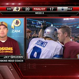 "Washington Redskins head coach Jay Gruden on quarterback Colt McCoy: ""Very pleased"""