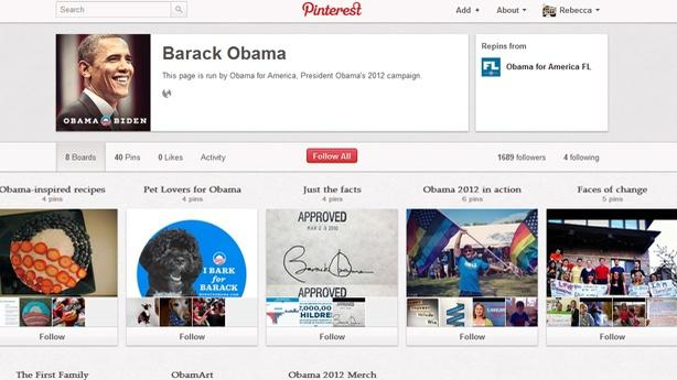Obama's Pinterest Is For the Ladies