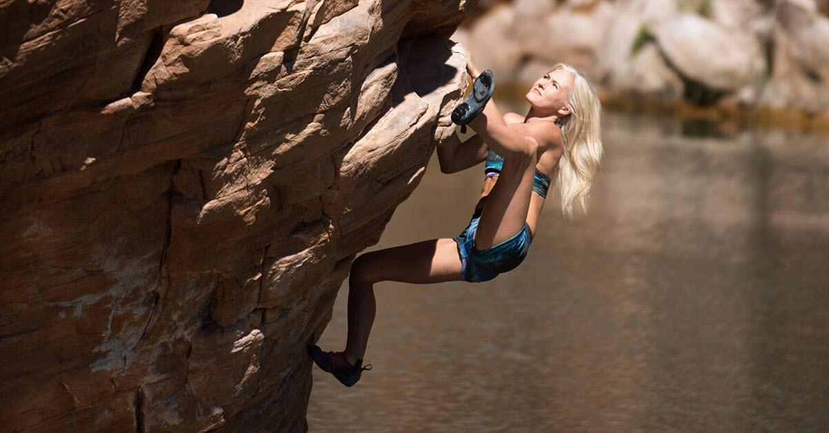 See Fear Defied: Ropeless Climbing Over Deep Water