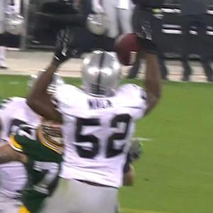 Pre-Wk 3 Can't-Miss Play: Khalil Mack intercepts Flynn
