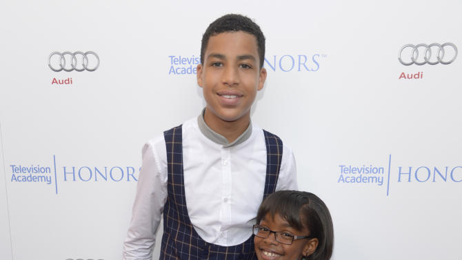 Marcus Scribner, left, and Marsai Martin arrive at the 8th annual Television Academy Honors  at the Montage hotel on Wednesday, May 27, 2015, in Beverly Hills, Calif. (Photo by Phil McCarten/Invision for the Television Academy/AP Images)