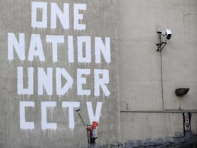 Banksy surveillance art London