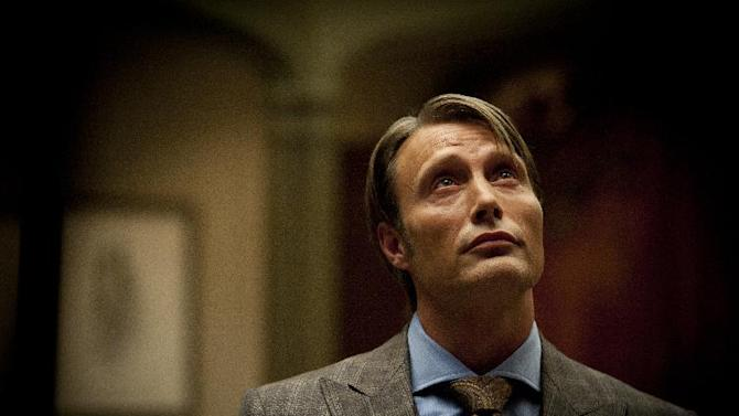 """This publicity image released by NBC shows Mads Mikkelsen as Dr. Hannibal Lecter in a scene from the TV series, """"Hannibal,"""" airing Thursdays at 10 p.m. EST on NBC. NBC says it's pulling an episode of its serial killer drama out of sensitivity to recent violence, including the Boston bombings. The episode, the fourth for the freshman series, will be replaced by another """"Hannibal"""" hour.  (AP Photo/NBC, Brooke Palmer)"""