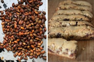 Wild pine nuts and pine nut biscotti