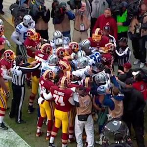 Washington Redskins quarterback Robert Griffin III 2-yard touchdown run ends in scrum