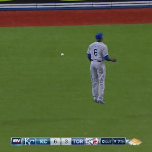 Goins scores on error in center