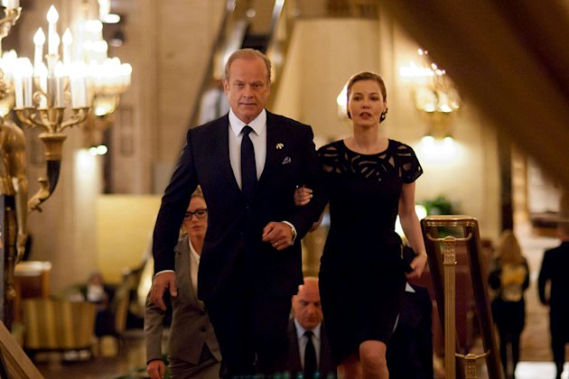 "Kelsey Grammer as Tom Kane & Connie Nielsen as Meredith Kane in ""Boss."""