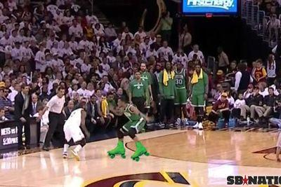 Kyrie Irving shakes Evan Turner, buries a buzzer beater