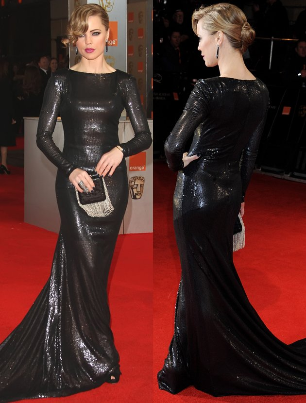 melissa-george-bafta-black-dress