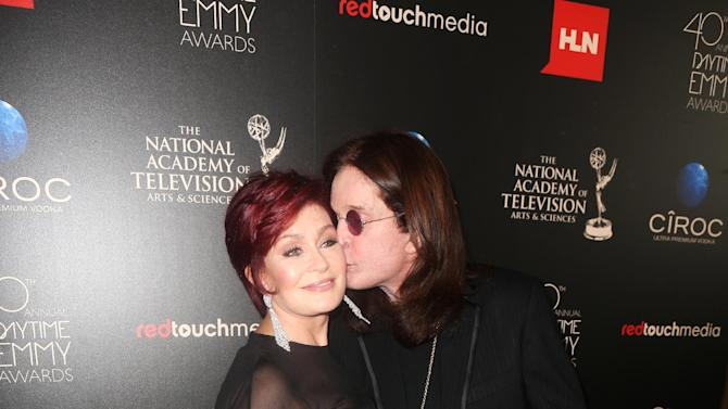 IMAGE DISTRIBUTED FOR EFG - Sharon Osbourne and Ozzy Osbourne seen at The 40th Annual Daytime Emmys Awards Redtouch Red Carpet, on Sunday, June 16, 2013 in Beverly Hills, Calif. (Photo by Ryan Miller/Invision for EFG/AP Images)