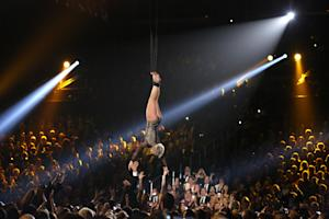 Pink performs at the 56th annual Grammy Awards at Staples …