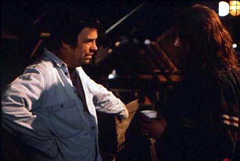 Director Neil Jordan and Robert Downey Jr. on the set of In Dreams