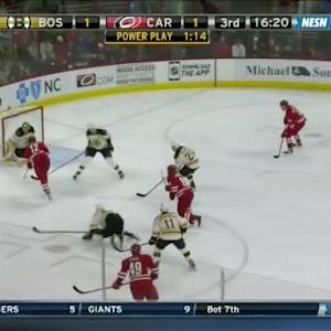 Tuukka Rask Save on Eric Staal (03:42/3rd)