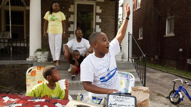 Detroit Boy, 9, Saving Motor City with Snack Stand