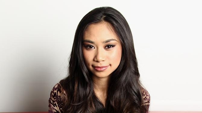 """In this Tuesday, April 16, 2013 photo, singer Jessica Sanchez poses for a portrait, in Los Angeles. The petite powerhouse enjoyed singing ballads on last season's """"American Idol,"""" where she placed second. But the 17-year-old admits that ballads aren't her only interest: Sanchez is hoping to capture a new and younger audience with her debut album, """"Me, You and the Music,"""" released April 30.  (Photo by Matt Sayles/Invision/AP, File)"""