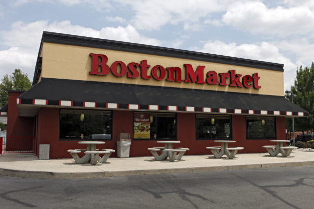 A Boston Market is pictured in Denver, Colo., on Wednesday, June 20, 2012. Boston Market Corp. plans a string of summer deals and giveaways to lure customers, especially younger ones. (AP Photo/Ed Andrieski)