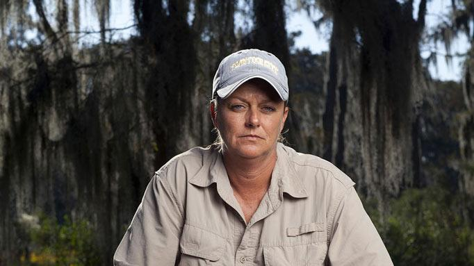 "Liz in ""Swamp People."""