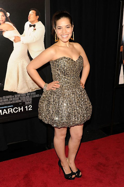 "America Ferrera attends the premiere of ""Our Family Wedding"" at AMC Loews Lincoln Square 13 theater on March 9, 2010 in New York City."