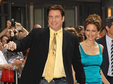 John Travolta and Kelly Preston at the New York premiere of New Line Cinemas' Hairspray