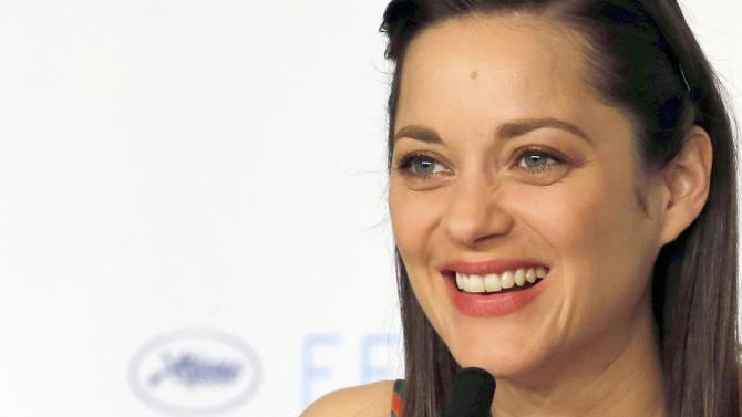 "Cast member Marion Cotillard attends a news conferenc for the film ""Macbeth"" in competition at the 68th Cannes Film Festival in Cannes"