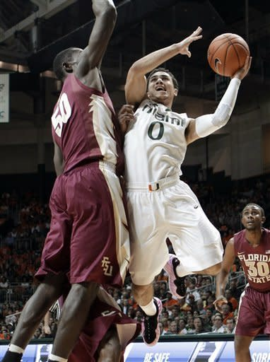 No. 25 Miami beats Florida St 71-47