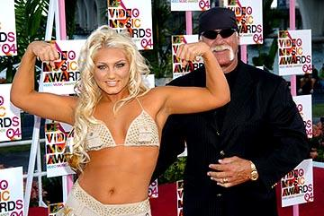 Brooke Hogan and Hulk Hogan MTV Video Music Awards - 8/29/2004