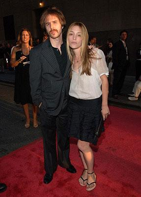Sam Rockwell and Piper Perabo at the New York premiere of 20th Century Fox's Live Free or Die Hard