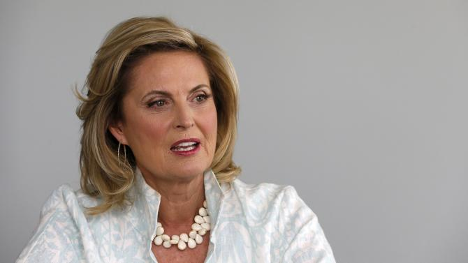 "In this Monday, Oct. 7, 2013 photo, Ann Romney, talks about her bestselling cookbook, ""The Romney Family Table: Sharing Home-Cooked Recipes & Favorite Traditions"" in Phoenix. (AP Photo/Ross D. Franklin)"
