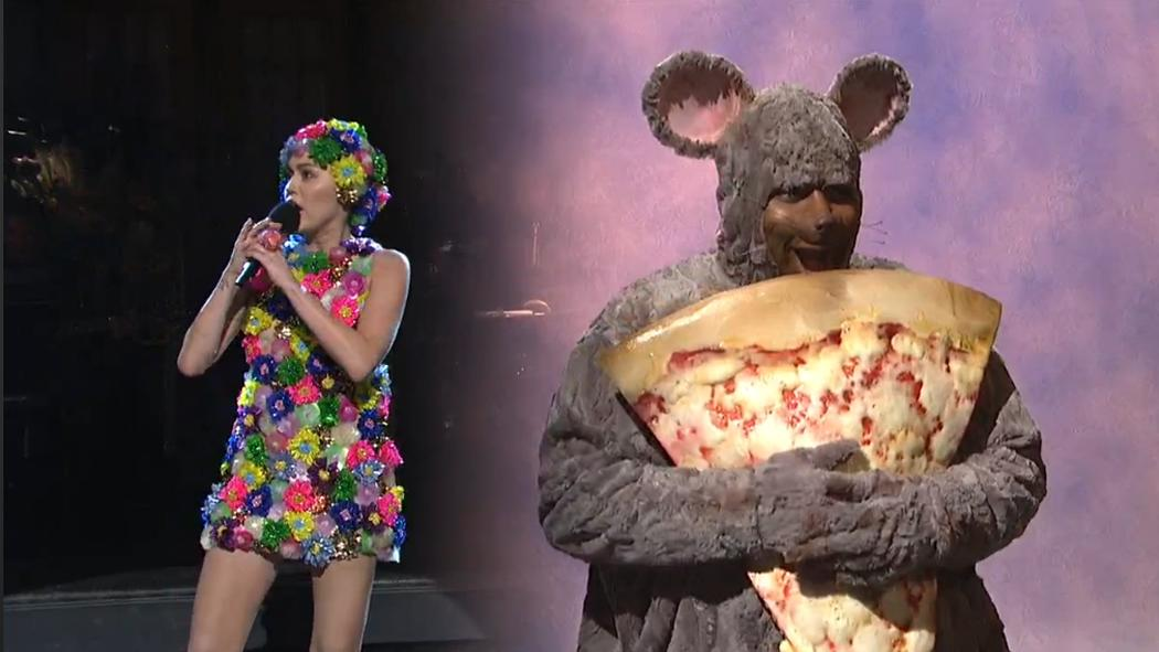 Watch Miley Cyrus Sing Farewell to Pizza Rat in SNL's Opening Monologue