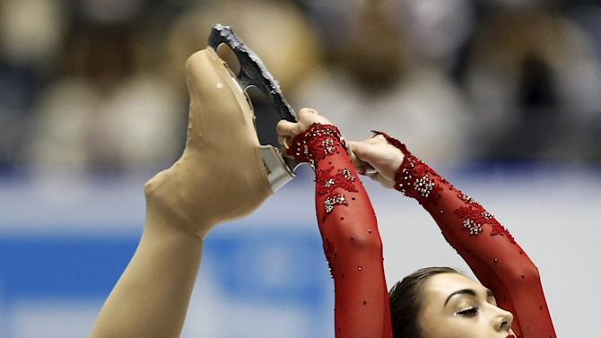 Gabrielle Daleman of Canada competes during the ladies' free skating program at the ISU World Team Trophy in Figure Skating in Tokyo