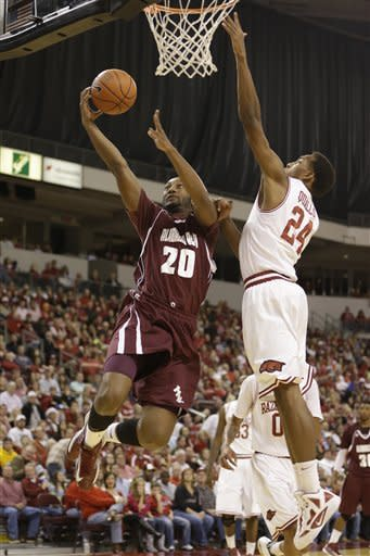 Arkansas defeats Alabama A&M 95-68