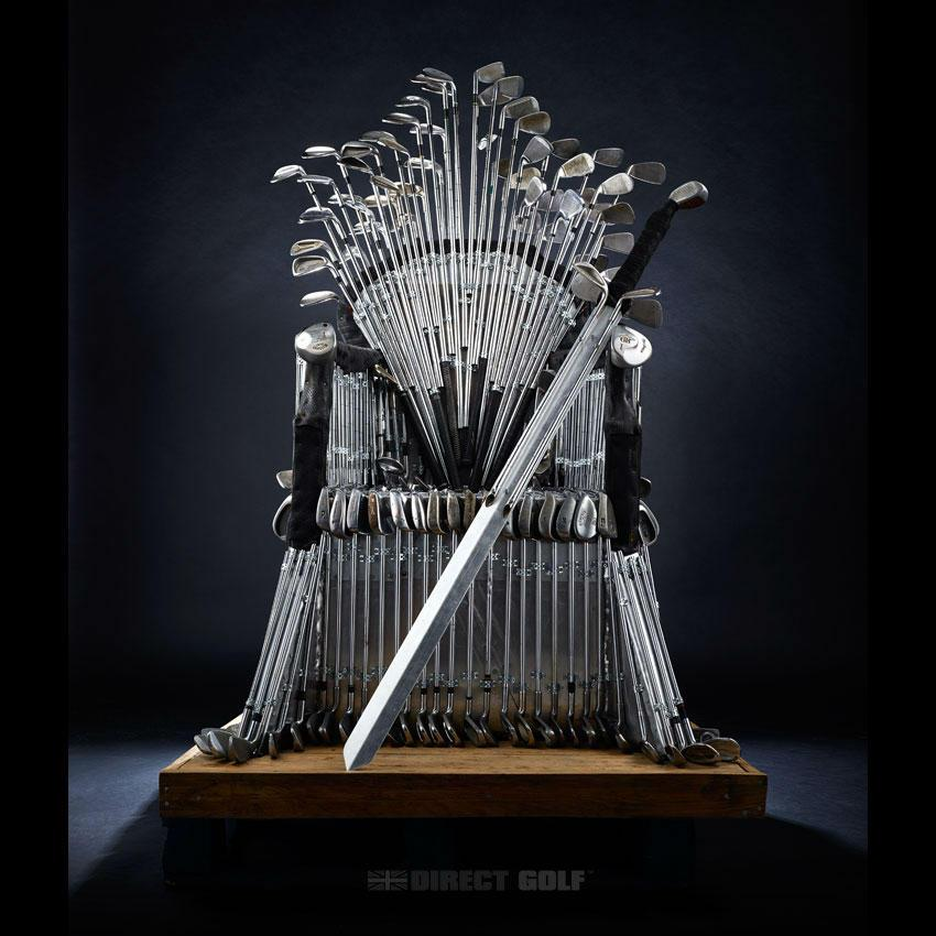 Golfer and 'Game of Thrones' fan? Build a Five Iron Throne with spare clubs