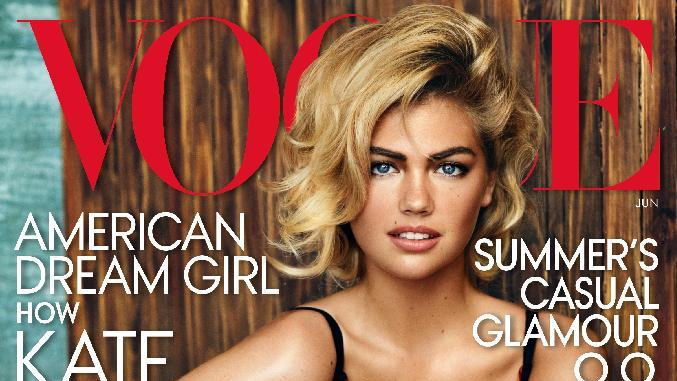 In this image released by Vogue, model Kate Upton craces the cover of the June 2013 issue. (AP Photo/Vogue)