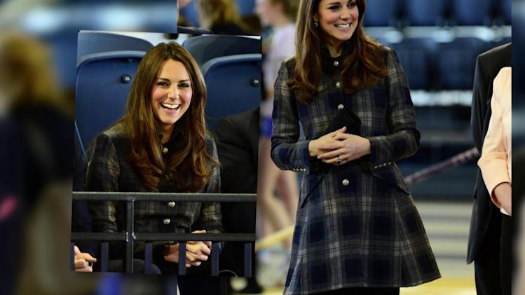 Duchess of Cambridge Pleased in Plaid