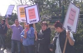 Union Pickets MPTF Hospital; Is 'Night Before' Oscar Party Next?